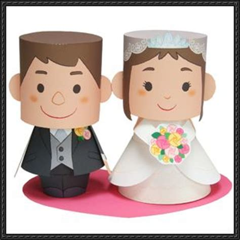 Paper Craft Wedding - canon papercraft s day wedding message doll