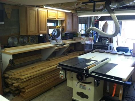 Setting Up A Woodworking Shop In A Garage by Brent S Garage Woodshop The Wood Whisperer