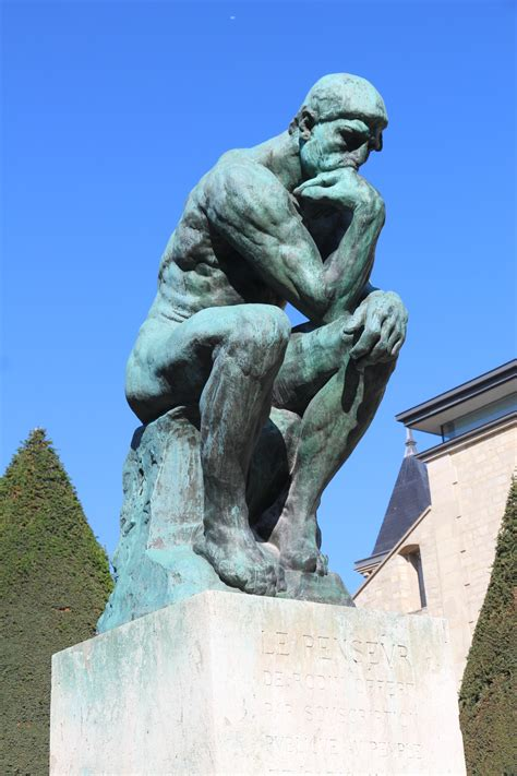 the sculptor thinking about the works of sculptor auguste rodin where to next