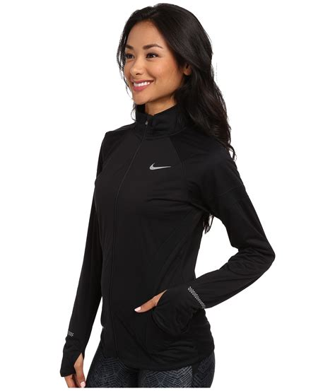 lyst nike element shield zip jacket in black