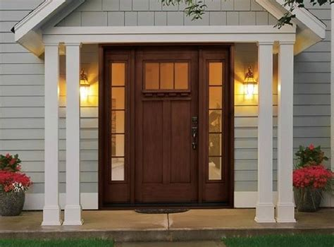 rustic style fiberglass entry doors  sidelights