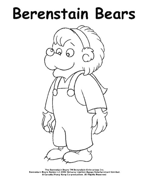 berenstain bear coloring page berenstain bears art coloring pages pbs kids