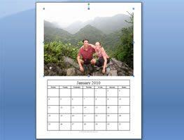 photo calendar template  microsoft word photo calendar personalised photo