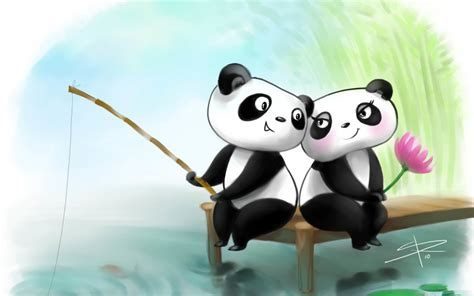 couple wallpaper hd cartoon cute panda couple cartoon quotes hd wallpaper love