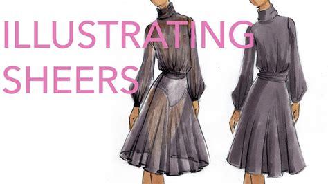 zoe hong fashion illustration fashion illustration tutorial sheer fabrics by zoe hong