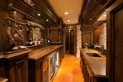 Wet Bar Floor Plans O Rourkes Pub Traditional Home Bar Minneapolis By