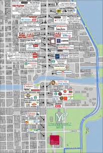 Chicago Sightseeing Map by Map Of Downtown Chicago Related Keywords Amp Suggestions