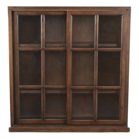 safavieh dale pine wood bookcase in walnut amh6570a