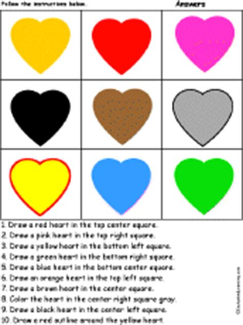 what do the different color hearts colors at enchantedlearning