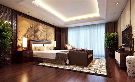 modern brown bedroom modern brown bedroom 3d model max cgtrader com