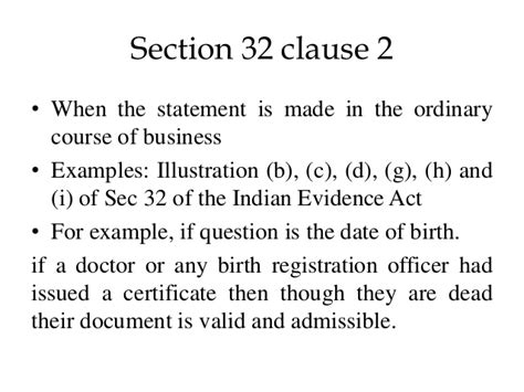 section 32 of registration act section 32 of the indian evidence act