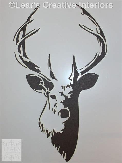 stag deer elk  stencil  lears creative interiors