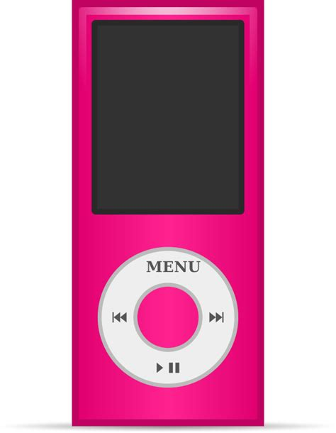 pink mp3 free pink mp3 player clip art