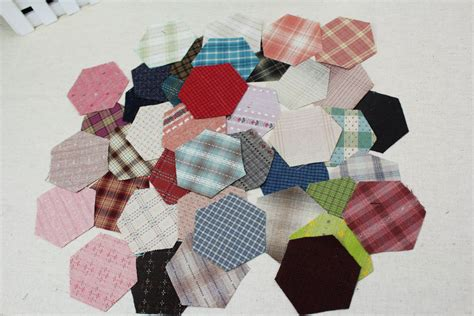 Patchwork Quilts Lots Of Them - grandmother garden hexagon yarn dyed fabric 3 8cm diy