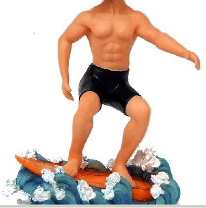 bobblehead gif maker surfing on waves custom bobblehead doll