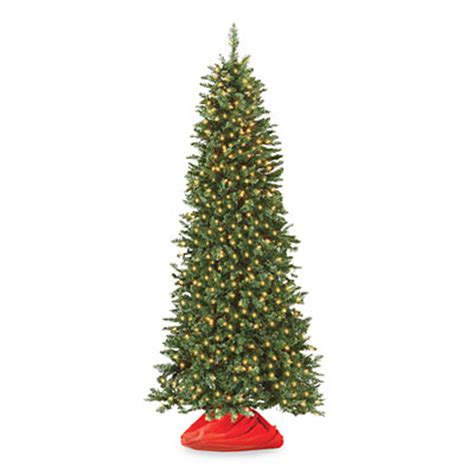 7 pre lit artificial christmas tree slim with clear