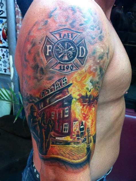 15 Epic Firefighter Tattoos From Across The Usa Firefighter Tattoos Designs