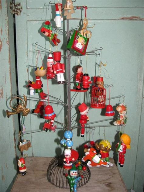 christmas tree in 1970s items similar to vintage 1970 s ornaments tree decor santa snowman