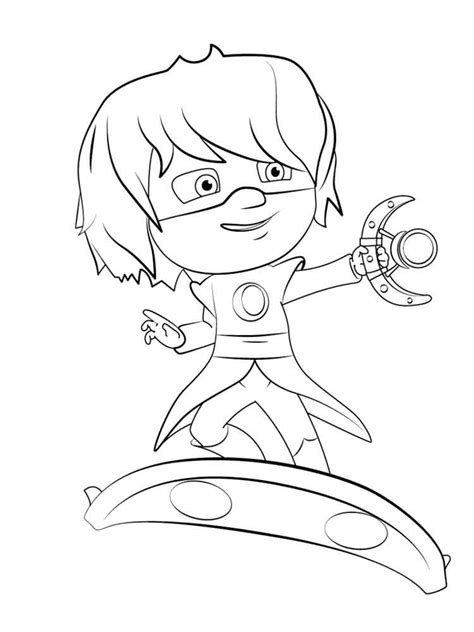 pj masks gekko coloring pages gekko from pj masks colour in owlette sketch coloring page