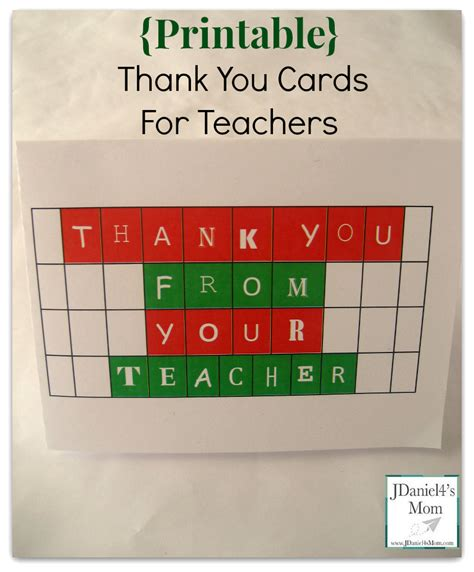 printable thank you card from teacher to student printable thank you cards for teachers