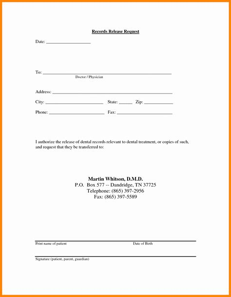 Medical Records Release Letter Template Sles Letter Template Collection Hipaa Records Release Form Template