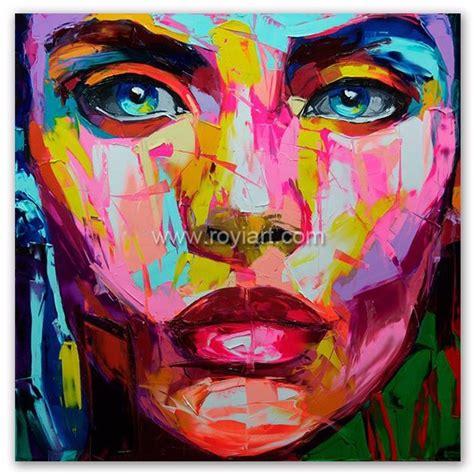 Dekorasi Rumah Kantor Lukisan Painting Pemandangan Asli L14 pisau gambar pop perempuan wajah potret lukisan minyak modern wall dekorasi rumah buy