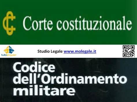 interdizione temporanea dai pubblici uffici codice dell ordinamento militare la corte costituzionale