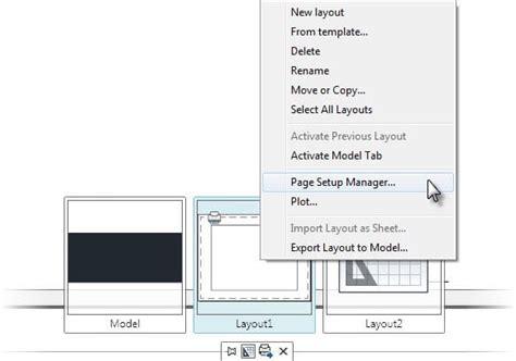 quick view layout autocad import autocad page setups