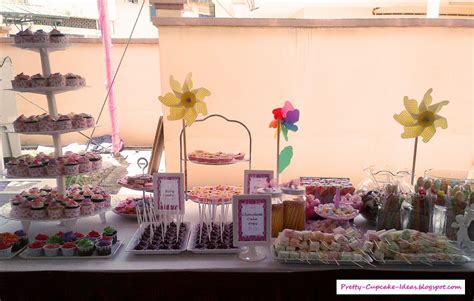 pretty cupcake ideas baby shower dessert table
