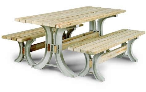 Patio Table Kit Easy To Build Basic Picnic Table Just Cut Wood To Length