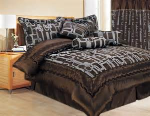 clearance 7pc bed in a bag bristol chocolate comforter