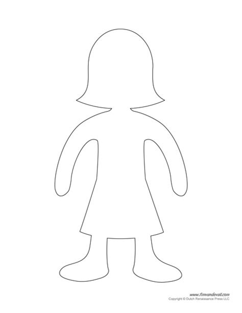 paper doll template templates paper