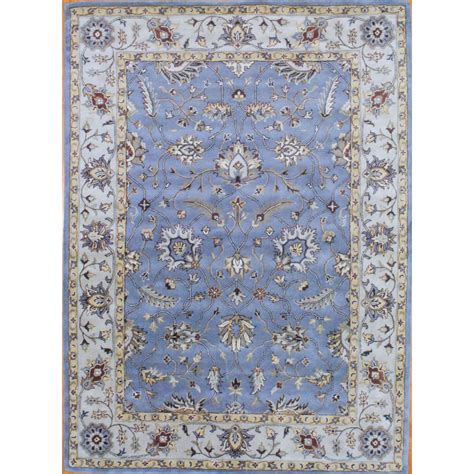 Indo Hand Tufted Wool Rug 8 X 11 Herat Oriental Rugs Indo Rugs