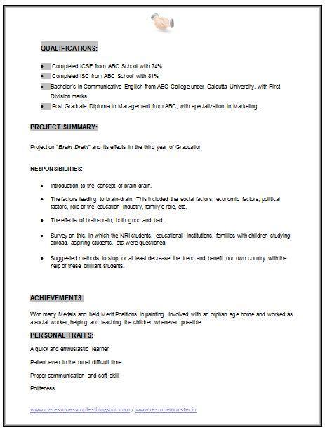 Mba Resume Personal Interests by Mba Marketing Resume Sle Doc 2 Career