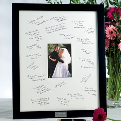 picture frame guest book wedding guest book picture frame signable picture frame