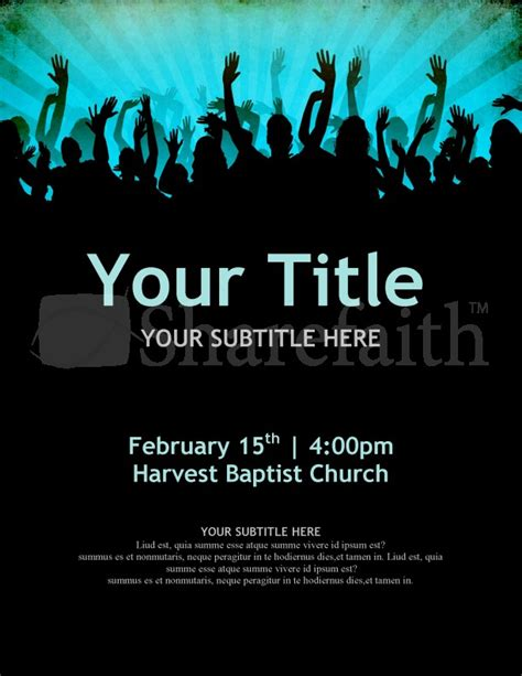 free church revival flyer template 7 best images of sle revival flyers free church