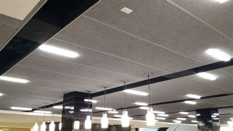 Tectum Ceiling by Large Lay In Ceiling Panels Tectum