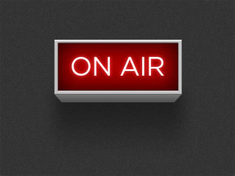 on air on air sign by shawn hickman dribbble