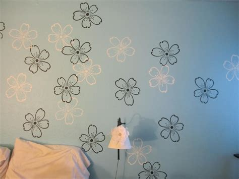 printable stencils for painting walls wall paint stencils with beautiful wall painting flower