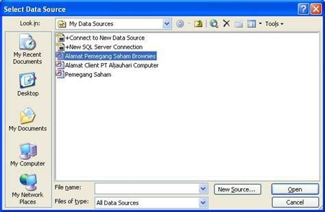 membuat surat mail merge melalui toolbar membuat document dengan mail merge 2003 perangkat lunak