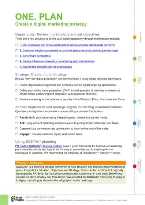 digital marketing plan template digital marketing plan template for free page 7