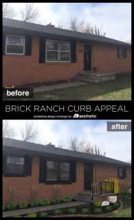 Brick Ranch Curb Appeal - best 25 brick ranch houses ideas on pinterest brick ranch painted brick houses and brick