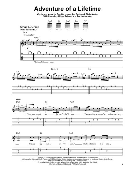 download mp3 coldplay adventure of a lifetime free adventure of a lifetime sheet music direct