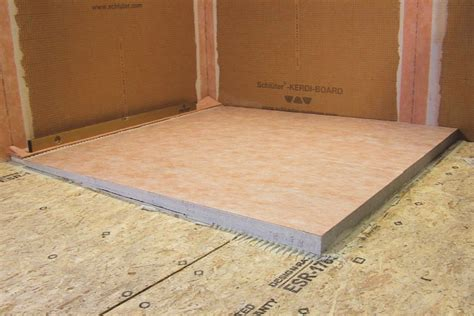 bases for floor ls schluter 174 kerdi shower l ls prefabricated substrates