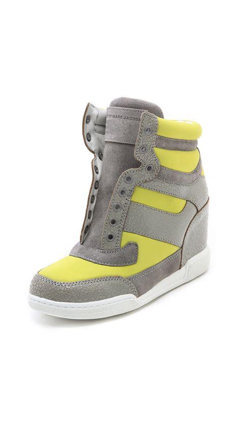 Sneaker Wedges Yellow Trendy Elegan marc by marc low wedge sneakers in yellow yellow grey lyst