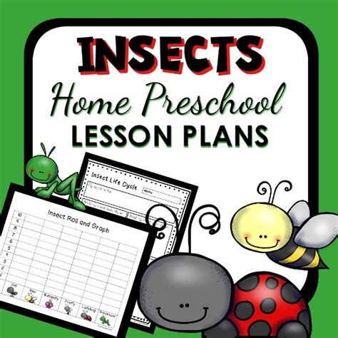 insect theme home preschool lesson plan home preschool 101