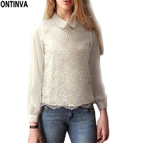 Pleast Peterpan Cropped Shirt mint white lace blusas femininas crop blouses for pan collar tops for
