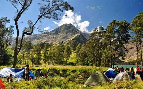 Stiker Taman Nasional Gunung Rinjani taman nasional di indonesia gunung