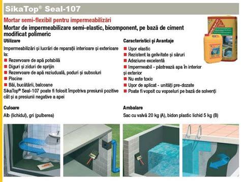 Sika Top 107 Seal Set 25 Kg 20kg Cairan 5kg sikatop seal 107 mortar hidroizolatii terase la 25kg pret