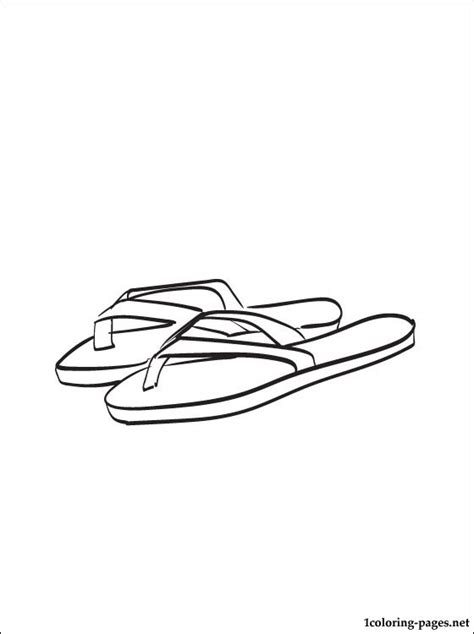 flip flops coloring page coloring pages